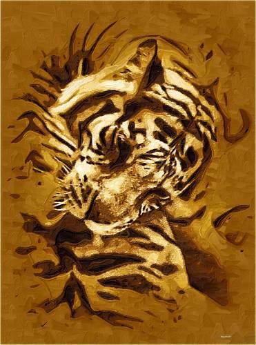 Тигр стилизация